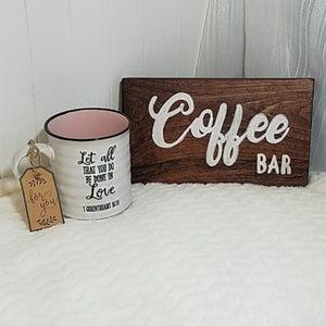 Handpainted sign and beautiful Coffee Mug